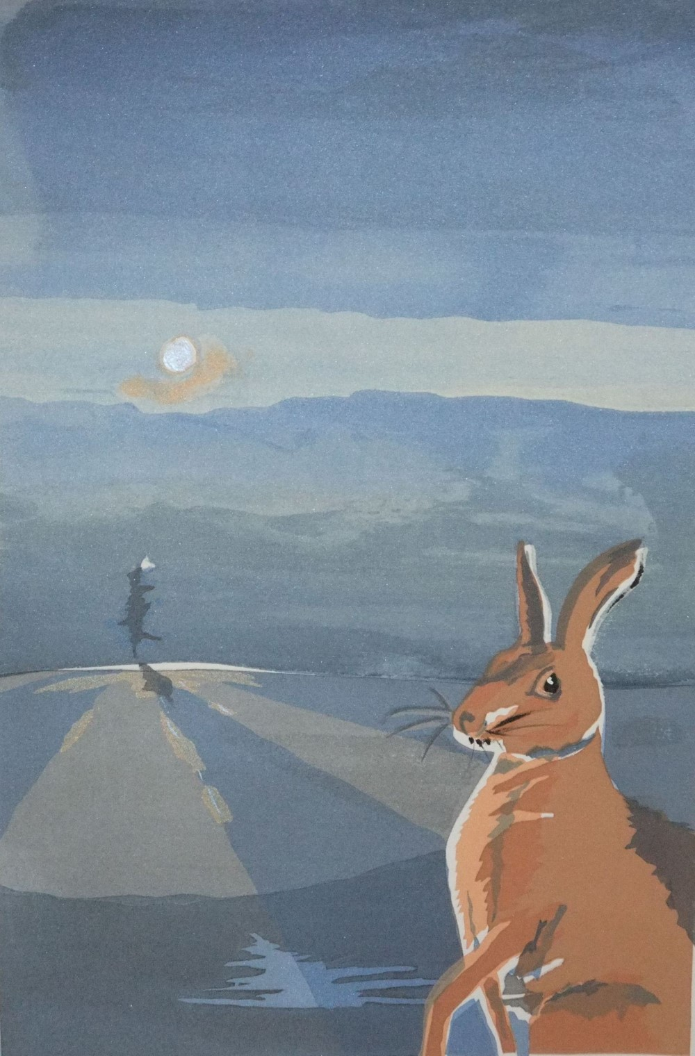 brown hare and the last elm