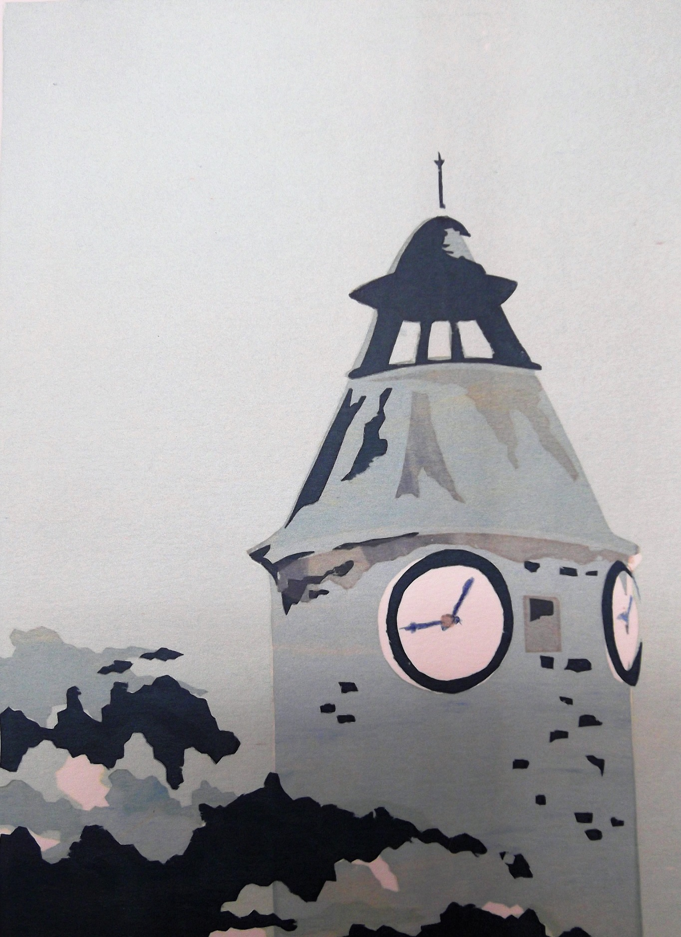 Aubusson Clocktower, Winter